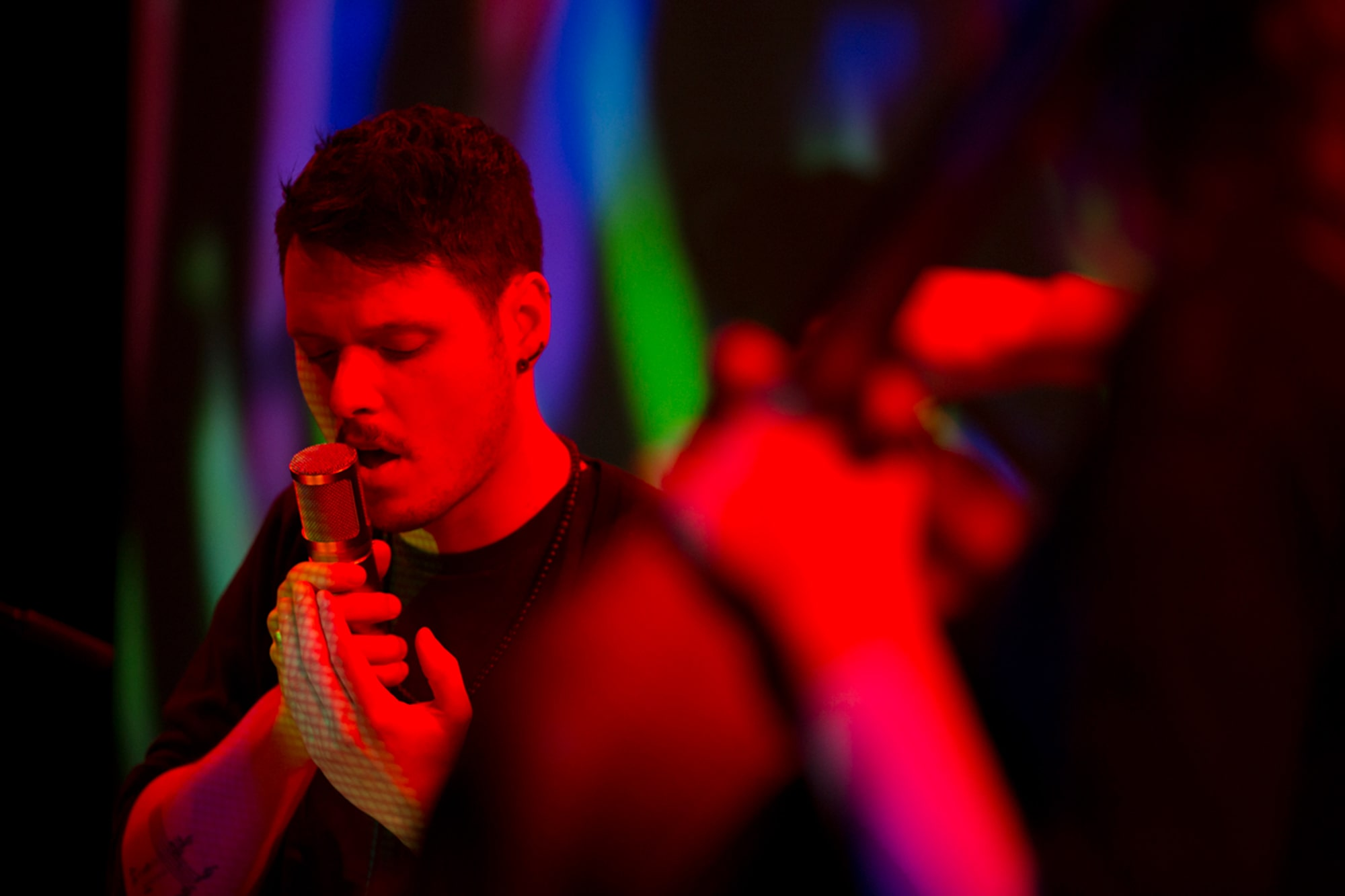 Randy Gibson performing <em>Apparitions of The Four Pillars in The Midwinter Starfield Under The Astral 789 Duet</em> at the 2013 Avant Music Festival