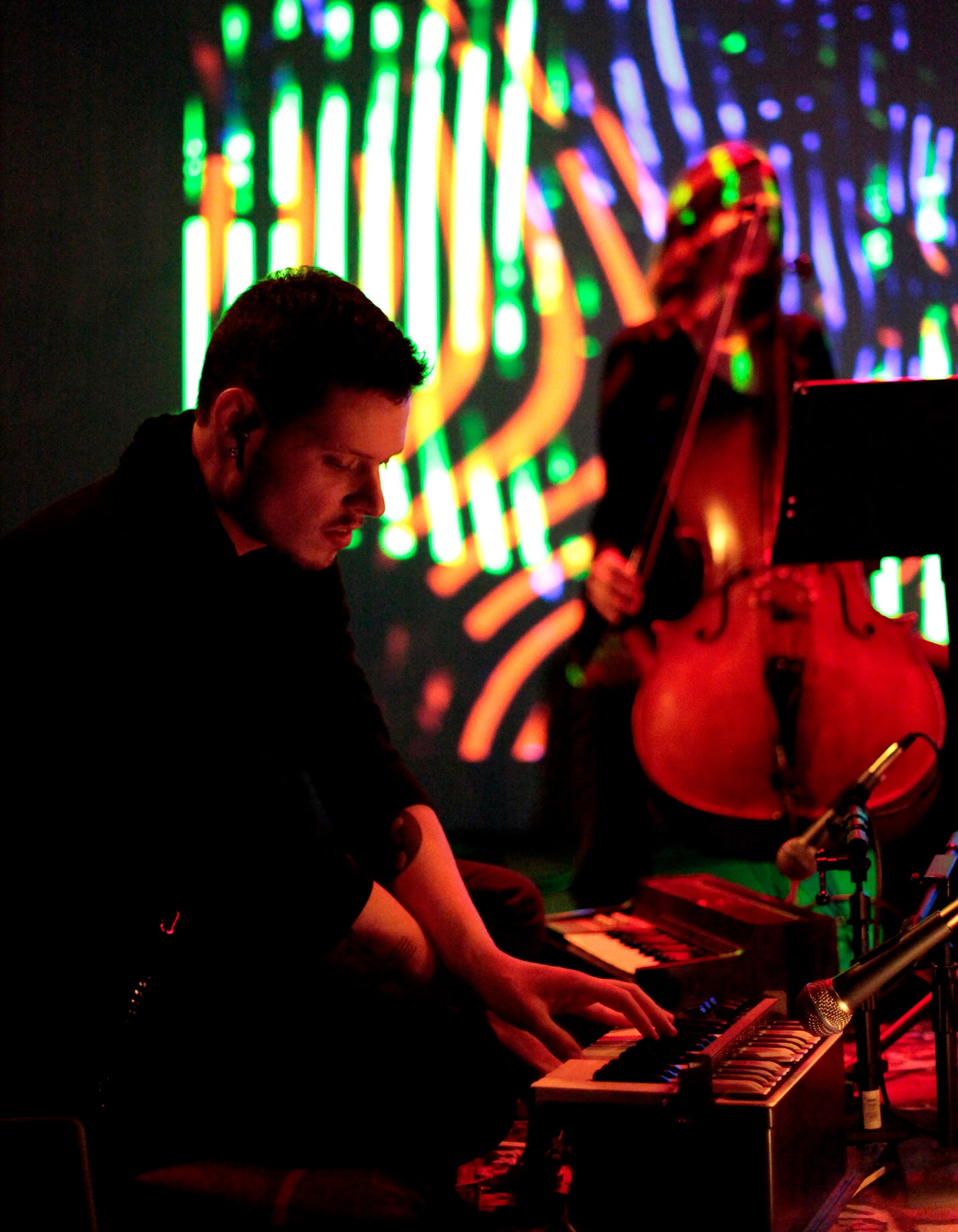 Randy Gibson performing <em>Apparitions of The Four Pillars with Their Lowest Additive Primes as limited to the 3rd, 7th, 9th, and 11th New Primes chosen Cyclically, The Toll of Premonition, The Memorial Connector over the Outlying Primal Abyss, and The Mid-Winter Ending</em> at the 2011 Avant Music Festival