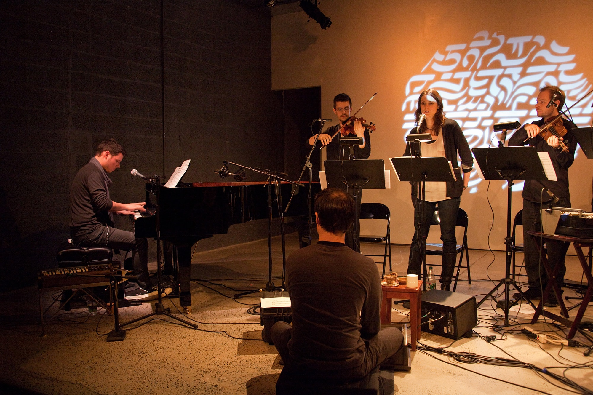 Randy Gibson and Ensemble performing <em>Doleo Æternus</em>