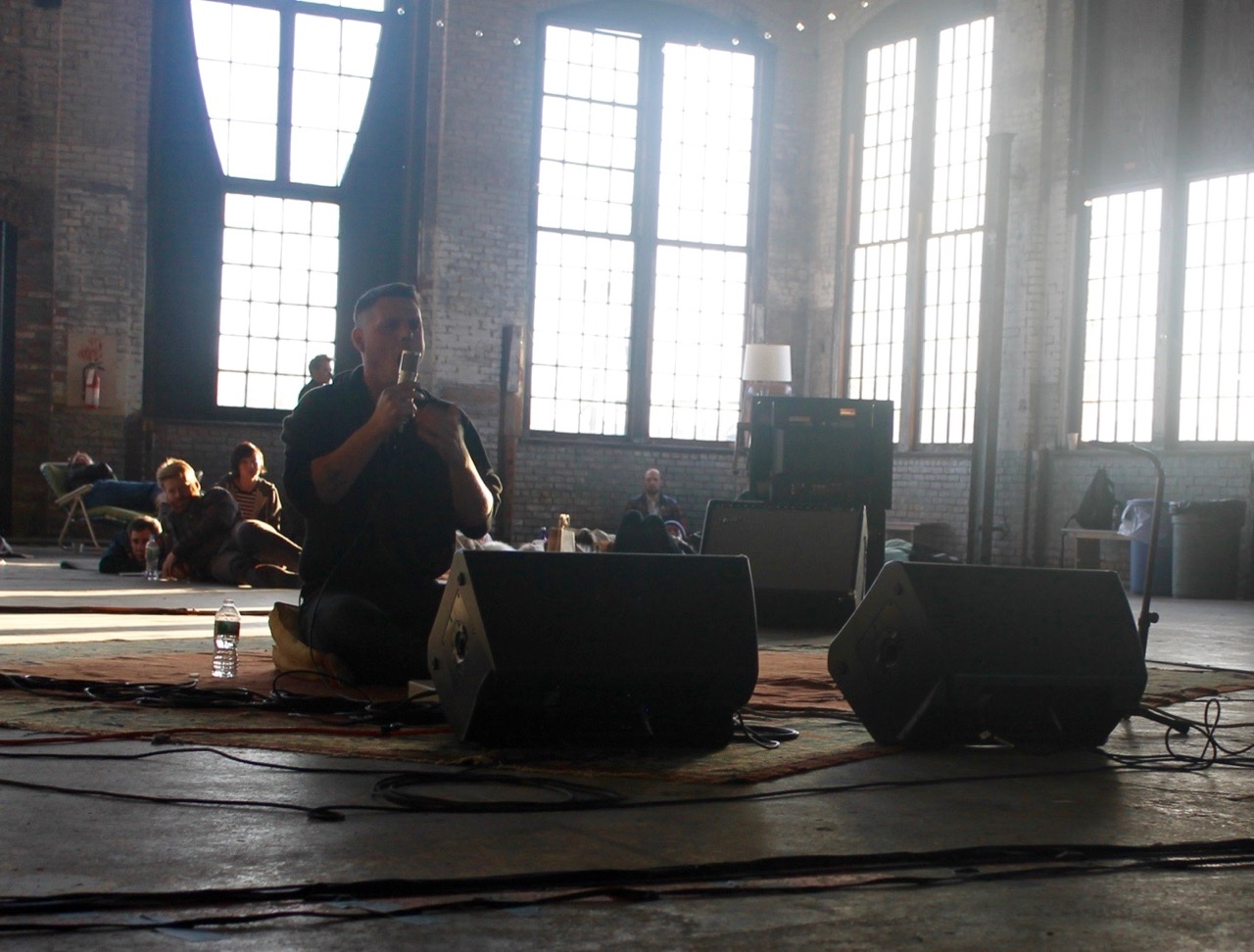 Randy Gibson performing <em>Intoning The Starfield Symmetry</em> at Basilica Hudson