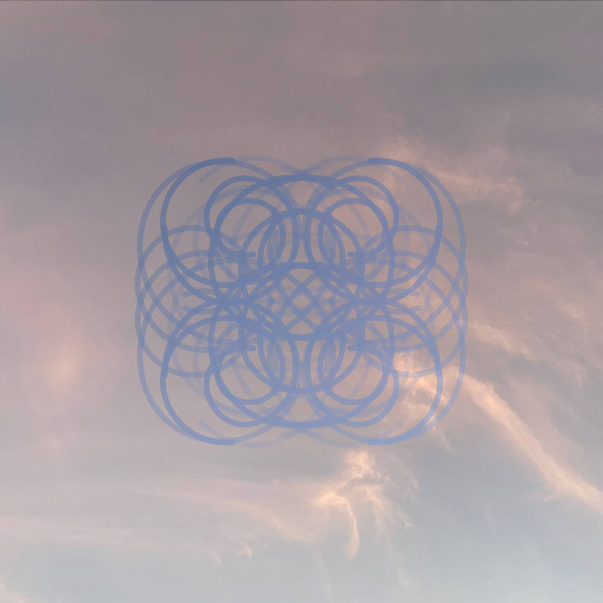 Composite image of Sky Photos and Mandala from CD release packaging