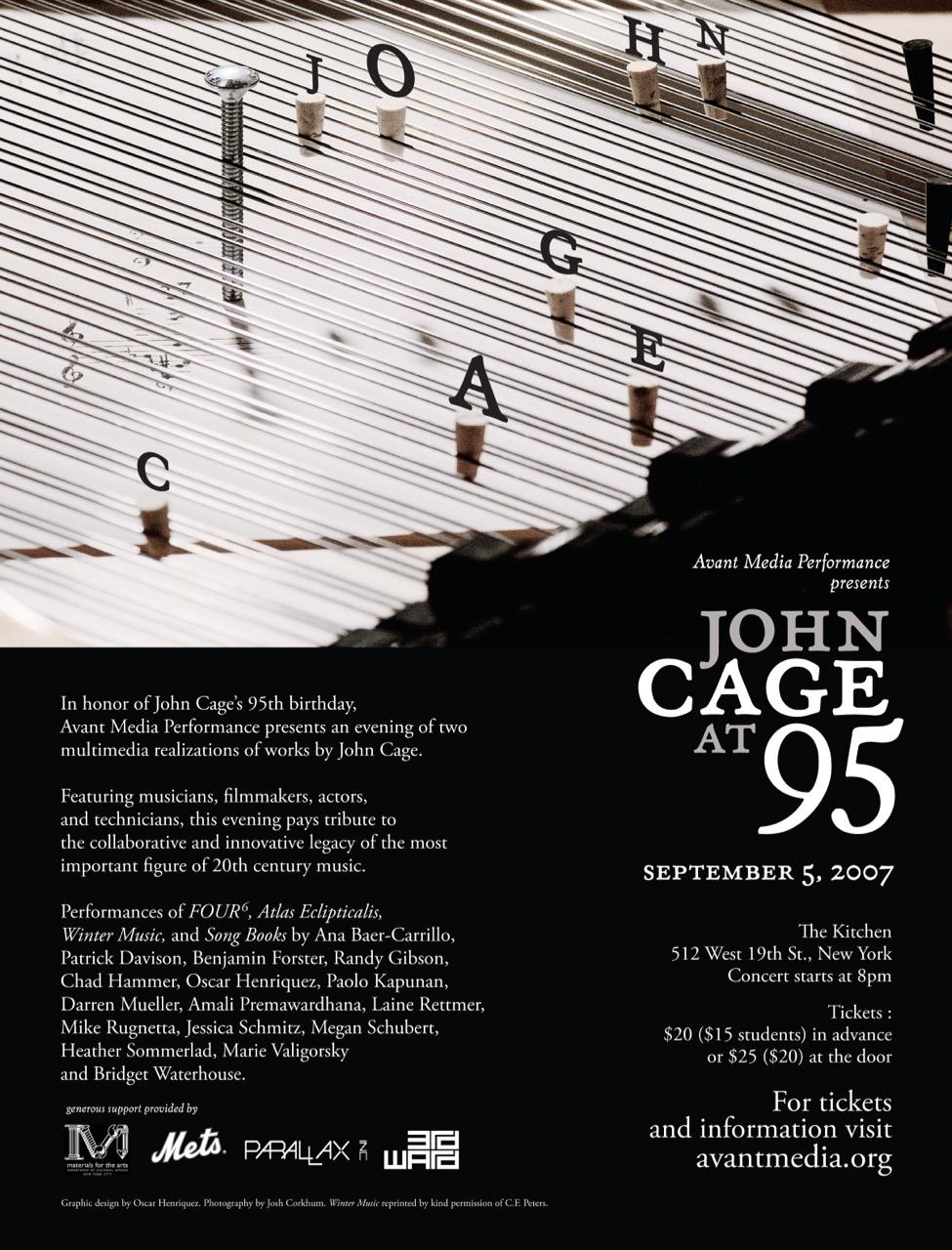 Poster for <em>John Cage at 95</em>