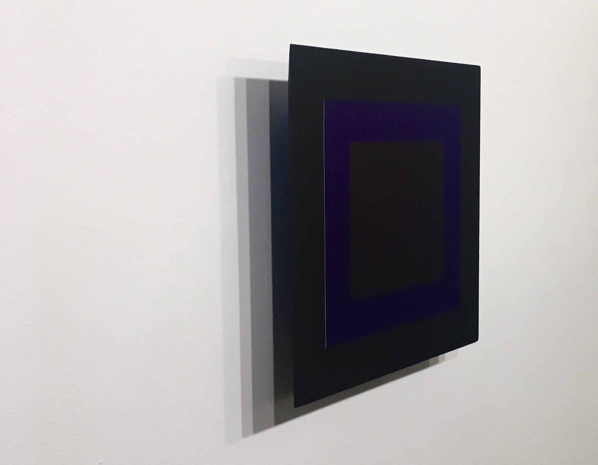 Randy Gibson's <em>Quadrilateral Starfield Symmetry A:L II - Homage</em> - Holland Rubber Ink, Hot Press Paper, Acrylic, Varnish, PVA, and Enamel on MDF - 2017 - Installed at Matteawan Gallery, Beacon, NY