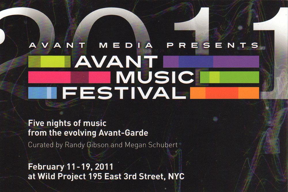 2011 Avant Music Festival Postcard