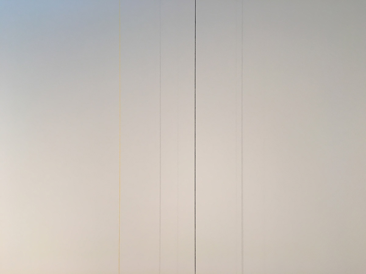 Fred Sandback's <em>Untitled</em>, 1982 from the Sol LeWitt Collection at The Drawing Center