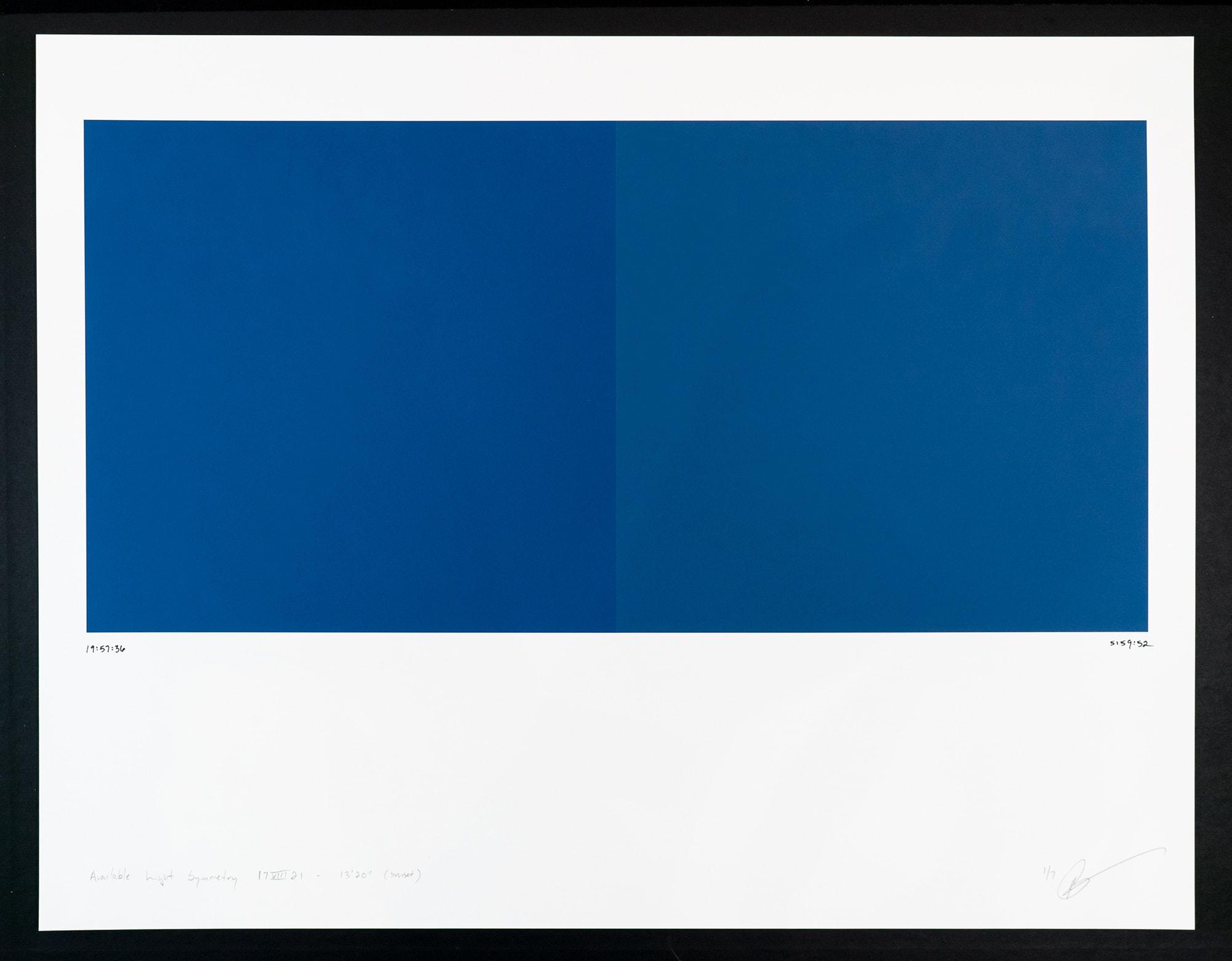 Randy Gibson : Available Light Symmetry 17VIII21 - 13'20″ (Sunset)