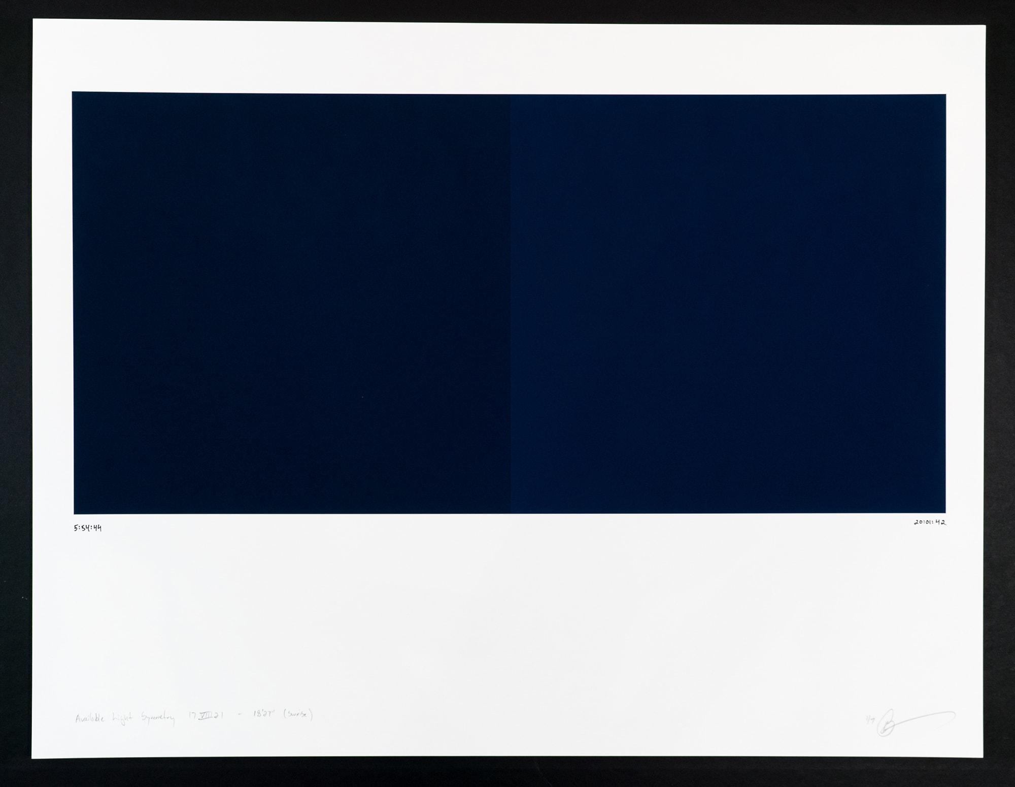 Randy Gibson : Available Light Symmetry 17VIII21 - 18'27″ (Sunrise)