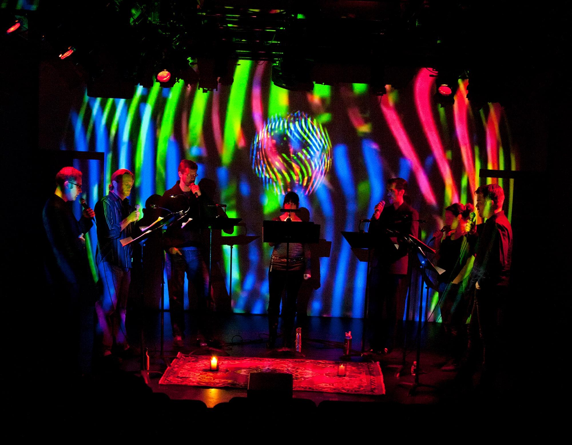 Ekmeles Vocal Ensemble performing Randy Gibson's <em>Circular Trance</em> at the Avant Music Festival
