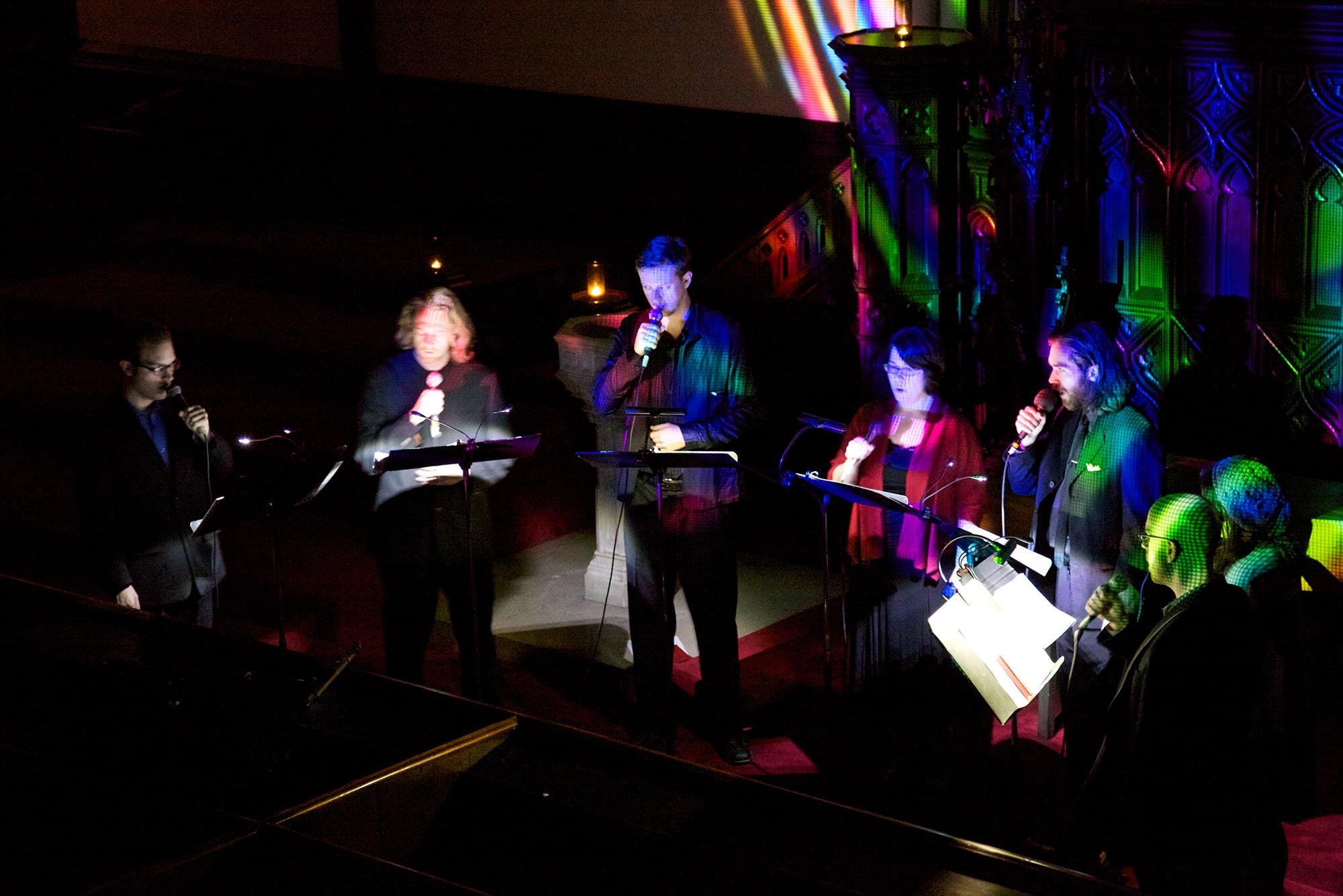 Ekmeles Vocal Ensemble performing Randy Gibson's <em>Circular Trance</em> at Music At First